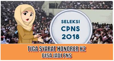 Tiga Syarat Tenaga Honorer K2 Bisa Jadi PNS 2018