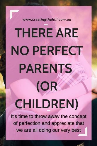 It's time to stop holding ourselves to unreal expectations. Let's acknowledge that we're not perfect and neither are our children - but we create perfect moments together and that's what really counts. #parenthood