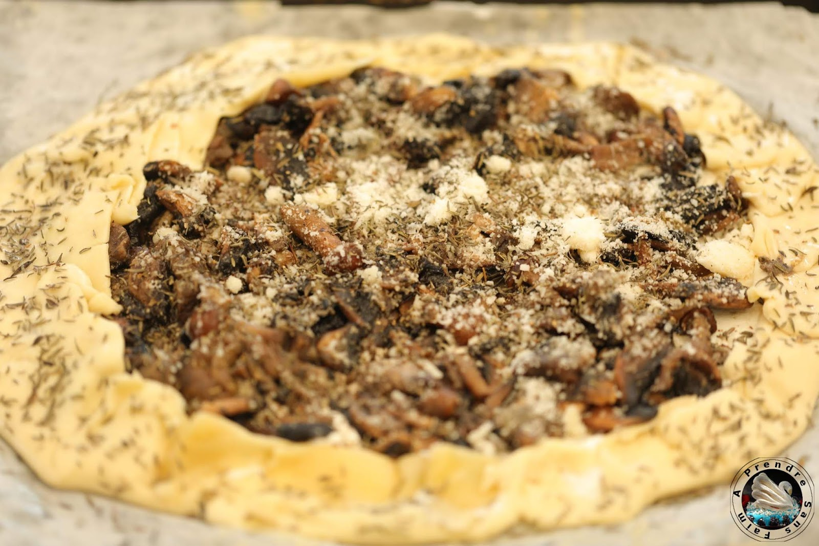 Tarte champignons ricotta parmesan