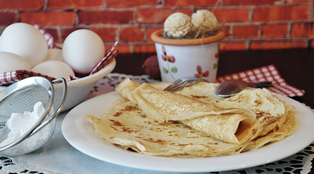 Folded Crepes In A Plate