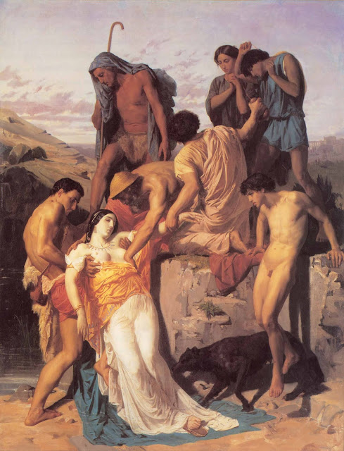 Адольф Вильям Бугро - Нахождение Зенобии пастухами на берегу Аракса (1850)