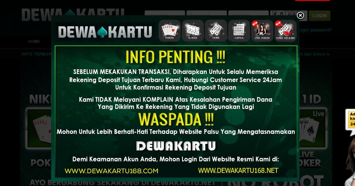 Dewa Poker Agen Judi Online Terbaik Di Indonesia ...