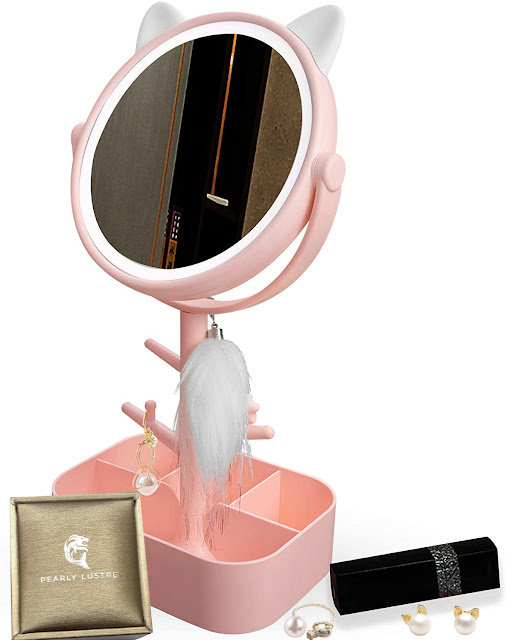 cat vanity mirror on amazon by barbies beauty bits