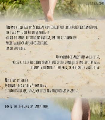 Füße im Sandsurm - Schicksal