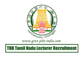 TRB Tamil Nadu Lecturer Recruitment 2020