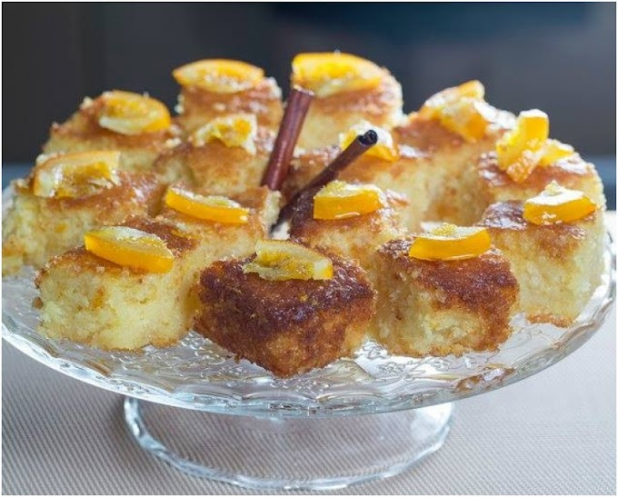 Πορτοκαλόπιτα τύπου κέικ