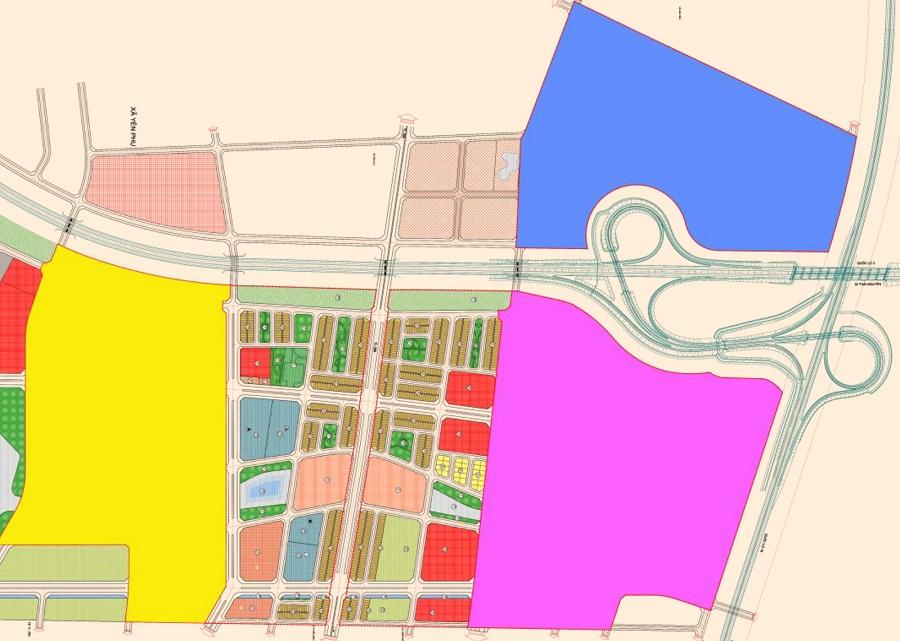 Mặt bằng bảng hàng đợt 1 trong khu đô thị Kim Đô