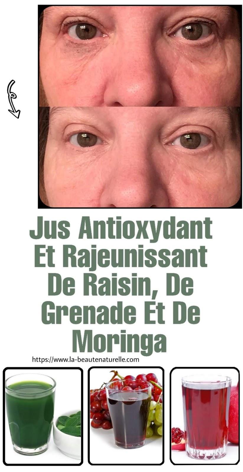 Jus Antioxydant Et Rajeunissant De Raisin, De Grenade Et De Moringa