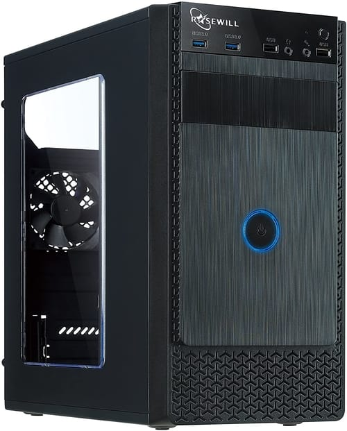 ROSEWILL FBM-X1 Micro ATX Mini Tower Computer Case