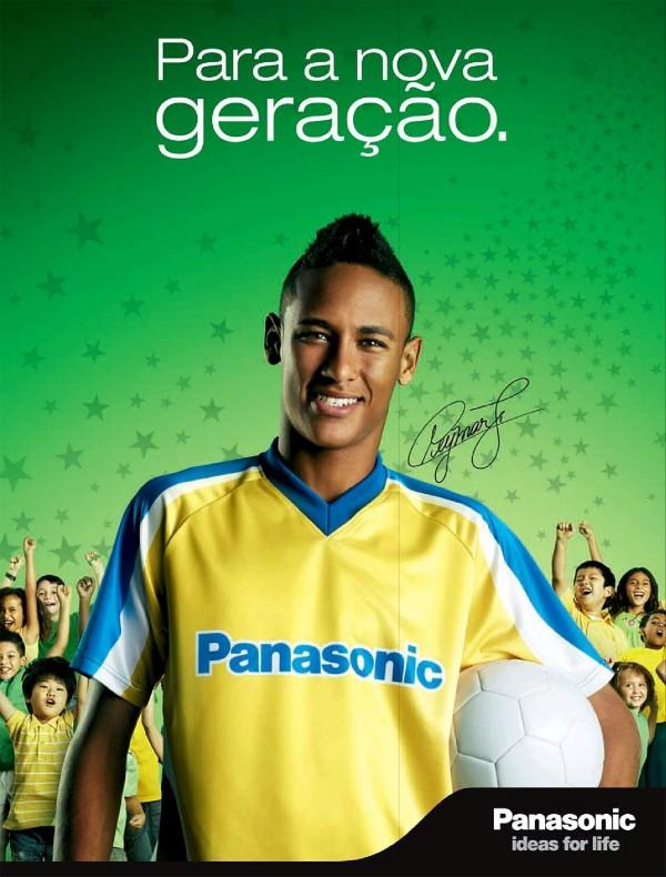 Neymar Jr. como garoto propaganda da Panasonic em 2010