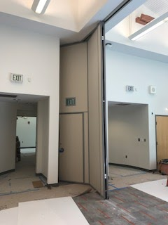 Meeting Room Divider partially opened