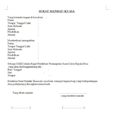 Contoh Surat Mandat Saksi Parpol Suratmenyuratnet