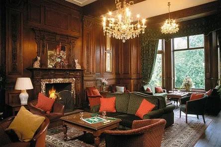 interior english style living room decoration