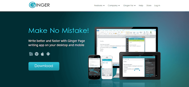 Ginger software for better writing