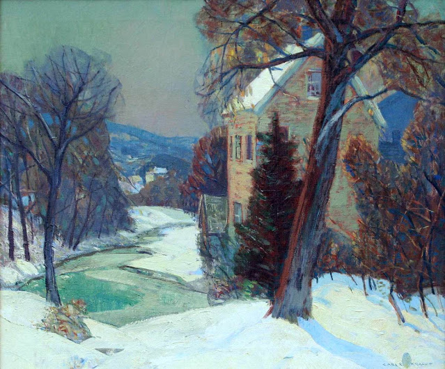 Carl Rudolph Krafft - Old Mill in Winter - 1925