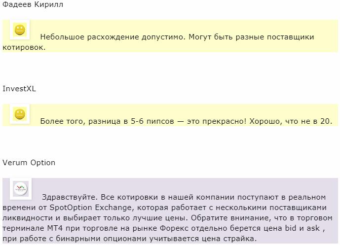 Verum Option отзыв от Фадеев Кирилл