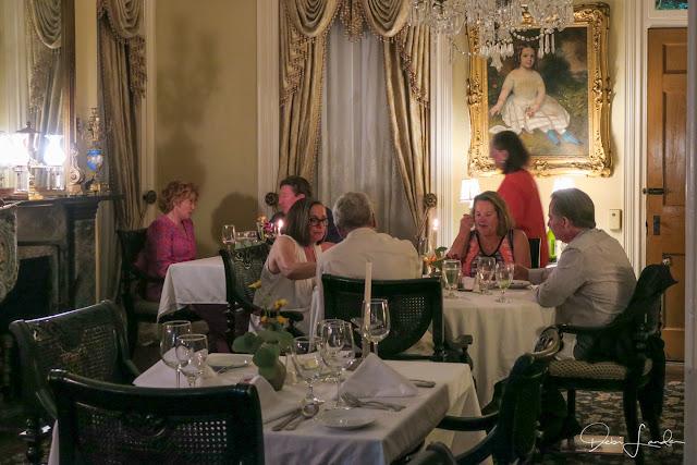 Dining in the Restaurant 1818, Monmouth Historic Inn.