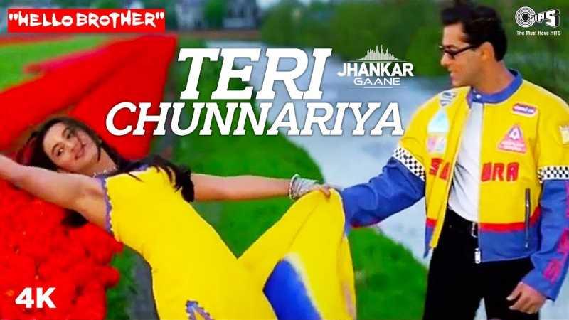 Teri Chunariya Dil Le Gayi Lyrics In Hindi Hello Brother