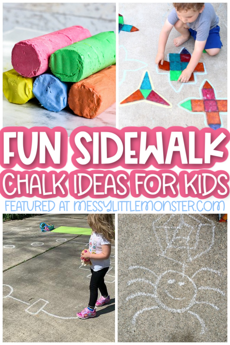 Sidewalk chalk ideas and sidewalk chalk recipes for kids