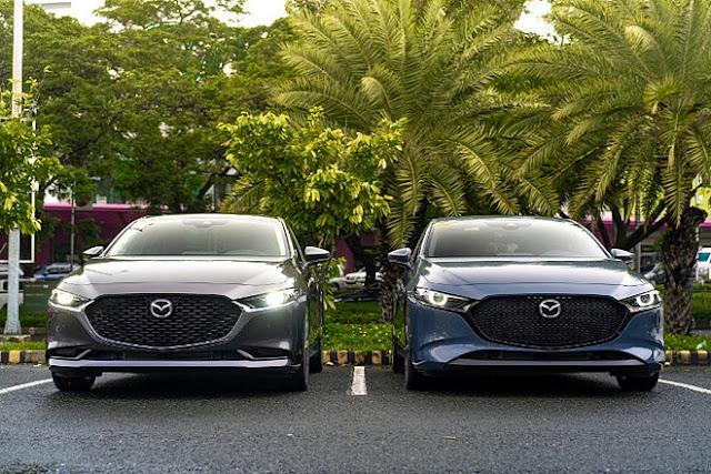Mazda 3 2020 mau xam va mau xanh