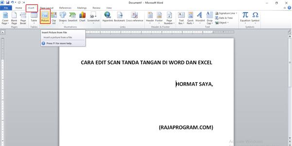 Cara Mudah Edit Scan Tanda Tangan di Word dan Excel
