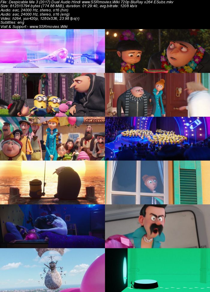 Despicable Me 3 2017 Dual Audio Hindi 480p Bluray 300mb Esubs