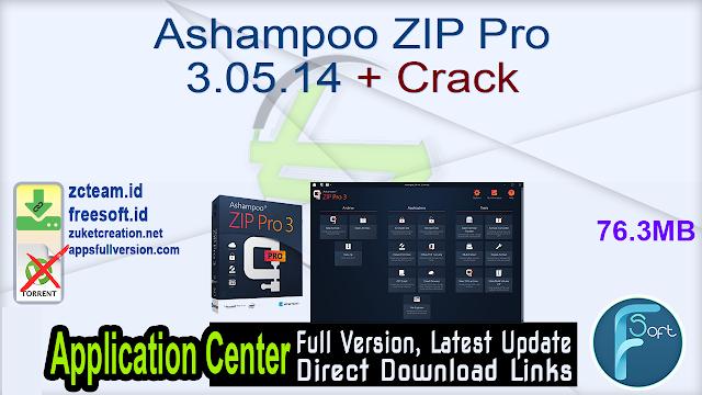Ashampoo ZIP Pro 3.05.14 + Crack_ ZcTeam.id