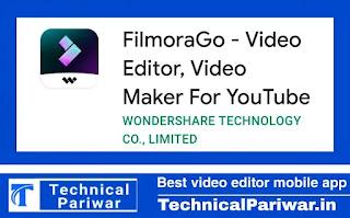 Filmora video editing softwere