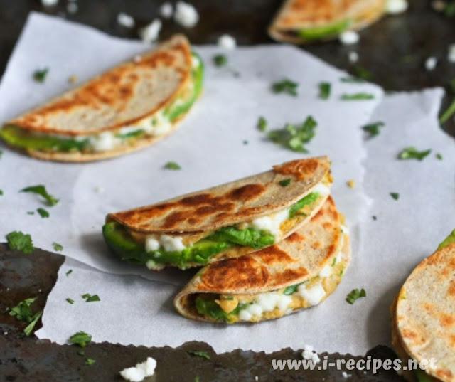 Mini Avocado & Hummus Quesadilla Recipe