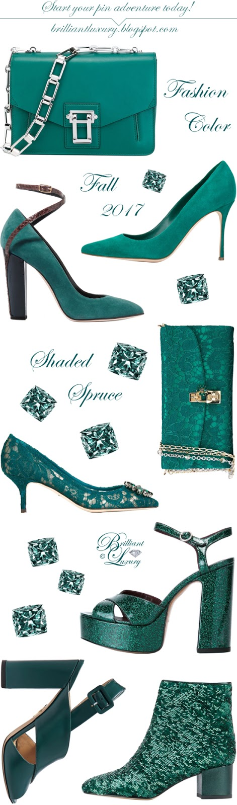 Brilliant Luxury ♦ Fashion Color Fall 2017 ~ shaded spruce