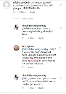 Actress Nkechi Blessing slams fan over comments on her bumpy photo
