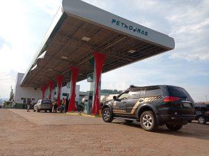 Polícia Federal durante busca e apreensão em posto de combustível de Parauapebas – Crédito: Reprodução