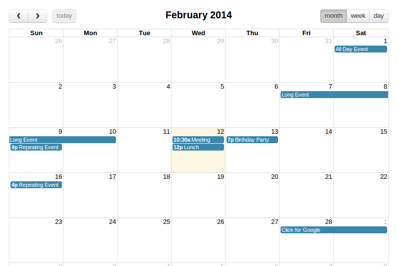 FullCalendar - Integration With Ruby on Rails - Rails Kitchen
