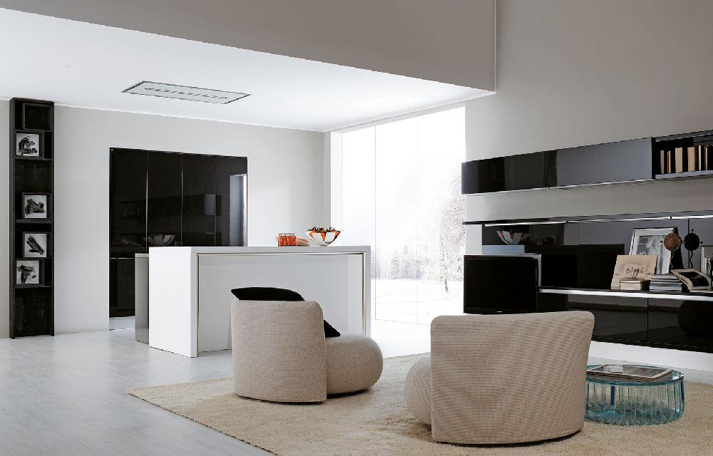 la cucina perfetta per vivere e 'trasformare' lo spazio living
