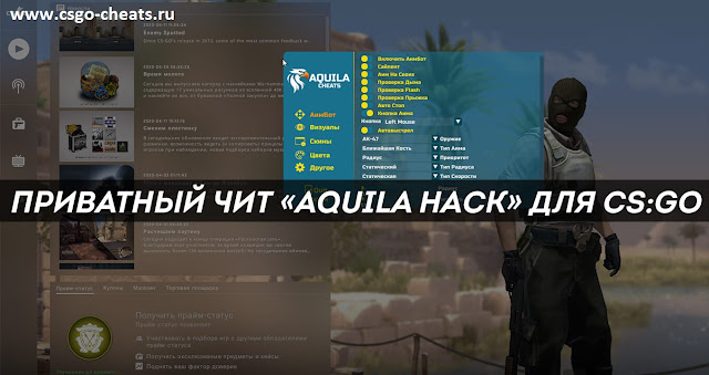 Приватный чит для CS:Go - Aquila Hack + Skinchanger