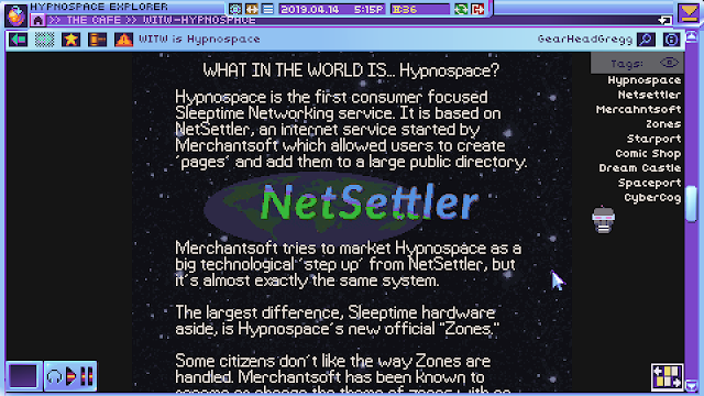 Screenshot from Hypnospace Outlaw