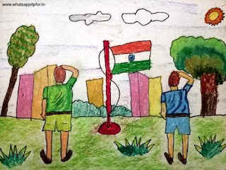 drawing of republic day parade