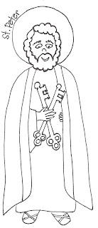 Look to Him and be Radiant: Saints Coloring Pages- Peter