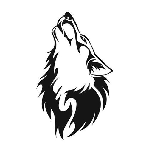 Tato tribal wolf
