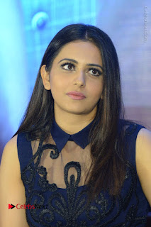 Actress Rakul Preet Singh Stills in Beautiful Blue Long Dress at Dhruva Salute to Audience Event  0051.JPG