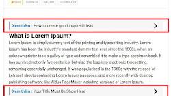 Thêm bài viết liên quan bên trong nội dung bài viết trên Blogspot