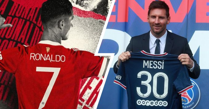 Ronaldo and Messi shirt sales compared