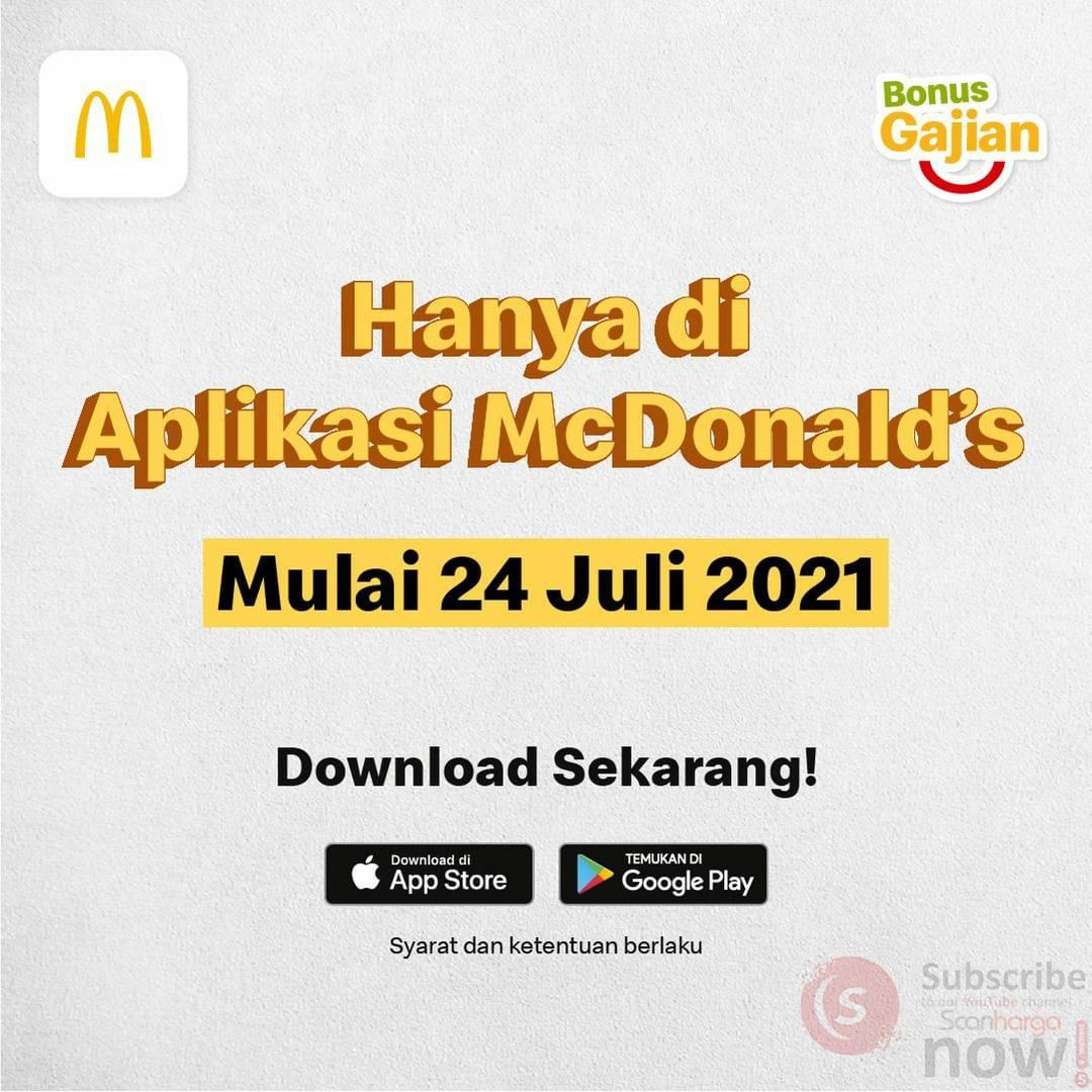 Promo McDonalds BONUS GAJIAN - DISKON Rp 20.000 via App McD 3