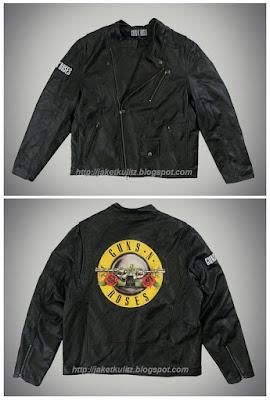 Model Jaket Kulit Guns N Roses Original Logo