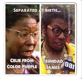 separated at birth... celie from color purple trinidad james