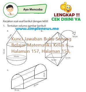 Kunci Jawaban Buku Senang Belajar Matematika Kelas 6 Halaman 157, Halaman 158,  www.simplenews.me