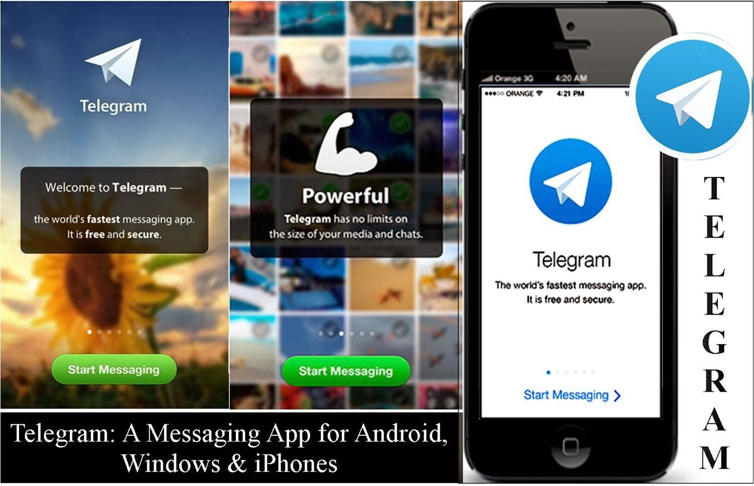 Telegram: a free instant messaging app for social networking