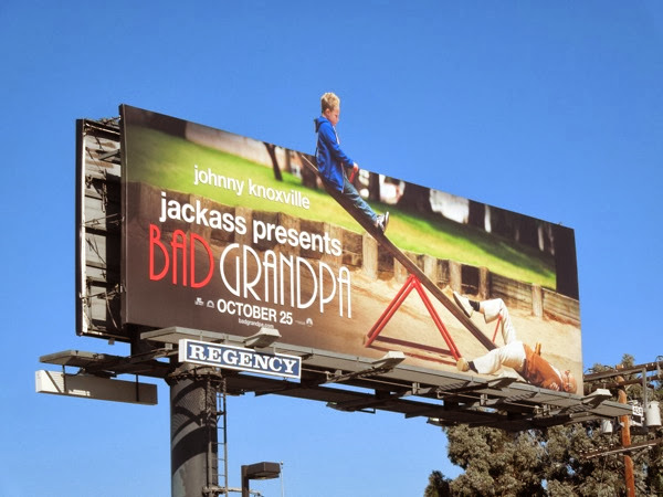 Jackass Bad Grandpa seesaw extension billboard