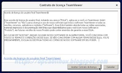 Contrato de licença do TeamViewer
