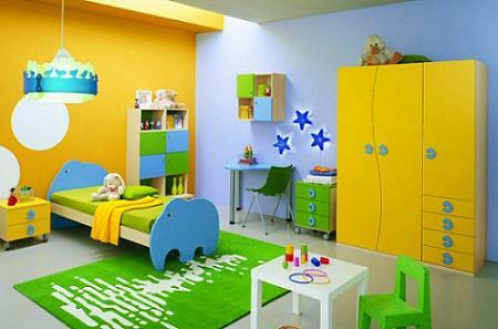Muebles y decoraci n de interiores dormitorios de color - Cuarto de ninos decoracion ...